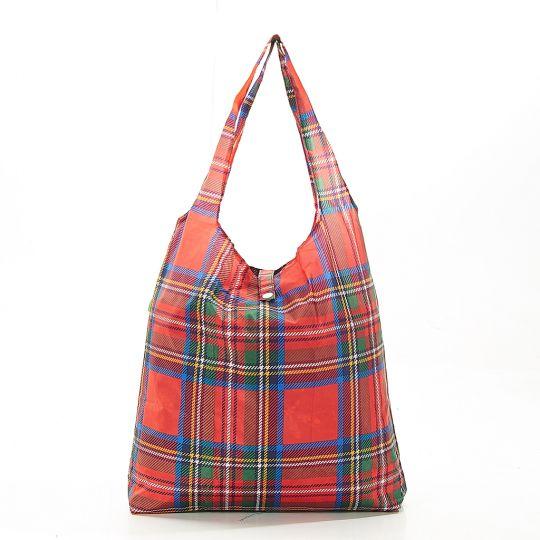 Eco Chic - Foldaway Shopper - A34RD - Red - Tartan