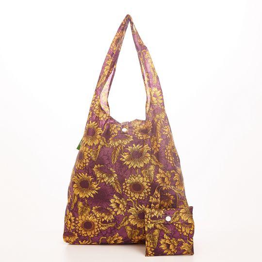 Eco Chic - Foldaway Shopper - A37PP -  Purple - Sunflower