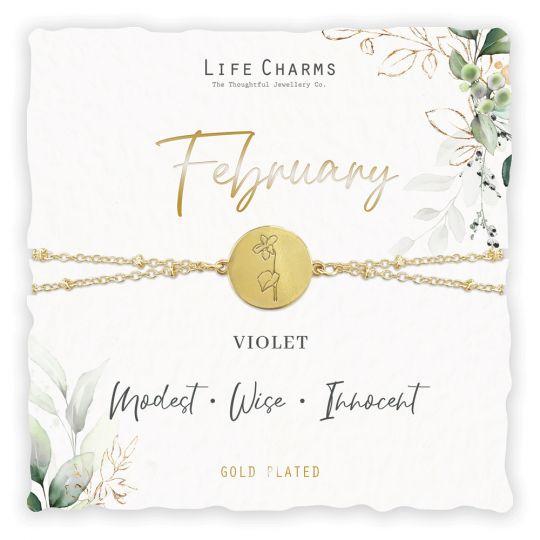 Life Charms - BF002 - Birthday Flower - armband - February