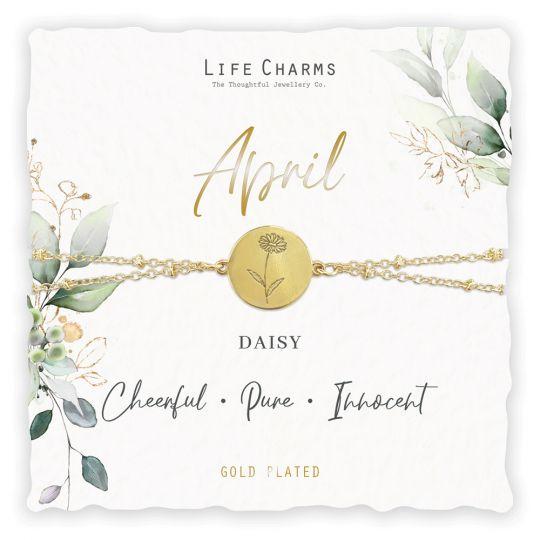 Life Charms - BF-004 - Birthday Flower - armband - April