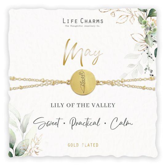 Life Charms - BF005 - Birthday Flower - armband - May