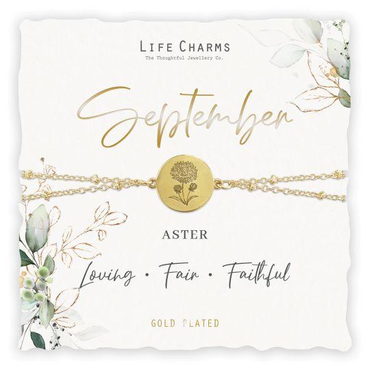 Life Charms - BF009 - Birthday Flower - armband - September