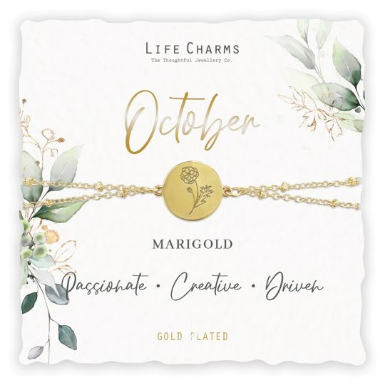 Life Charms - BF010 - Birthday Flower - armband - October