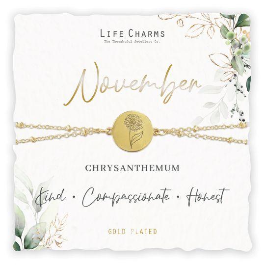 Life Charms - BF011 - Birthday Flower - armband - November