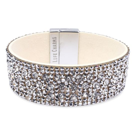 480320 - Life Charms - BT20 - Wrap Bracelet Cream-Silver Diamant