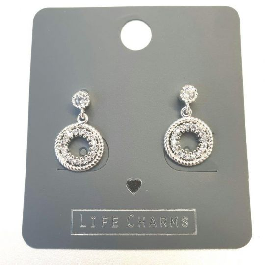 Life Charms - EAR175 - Oorbellen - CZ Round Drops