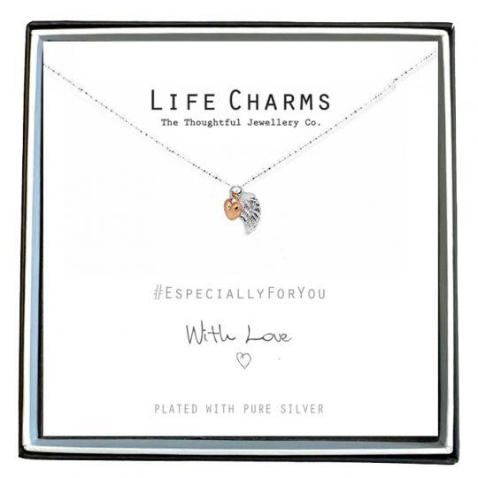 Life Charms - EFY001N - Verzilverd collier - Angel Wings