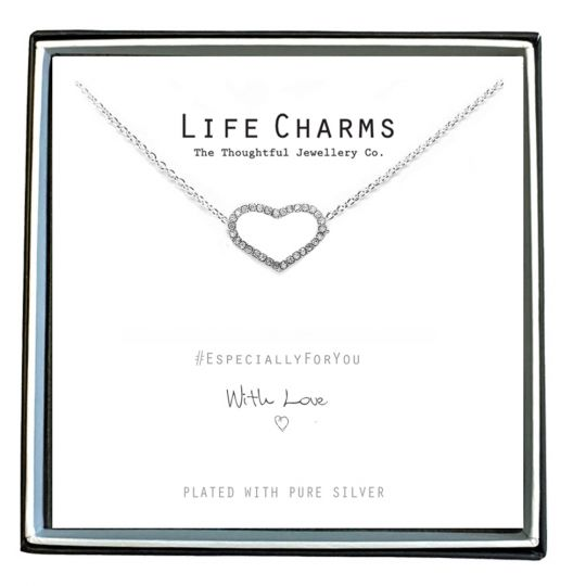 480451 - Life Charms - EFY051N - Necklace Silver Crystal Heart