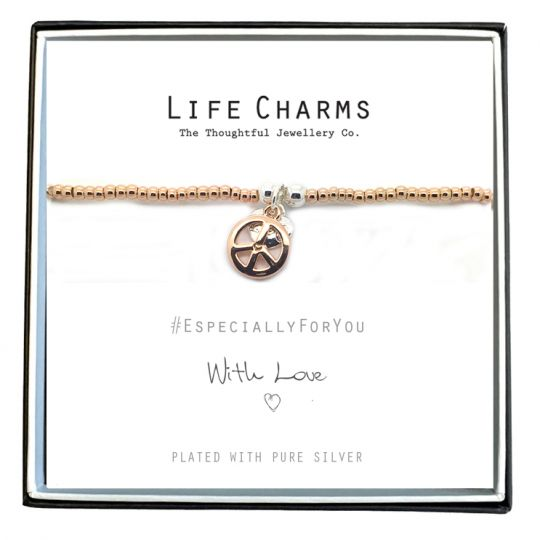 Life Charms - EFYENCOO2PEACE - Bracelet Rose Gold Peace bracelet