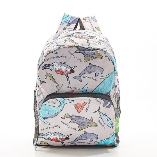 Eco Chic - Mini Backpack - G05GY - Grey - Sea Creatures