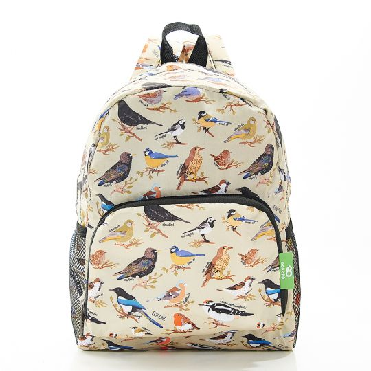 Eco Chic - Mini Backpack - G06GN - Green - Wild Birds