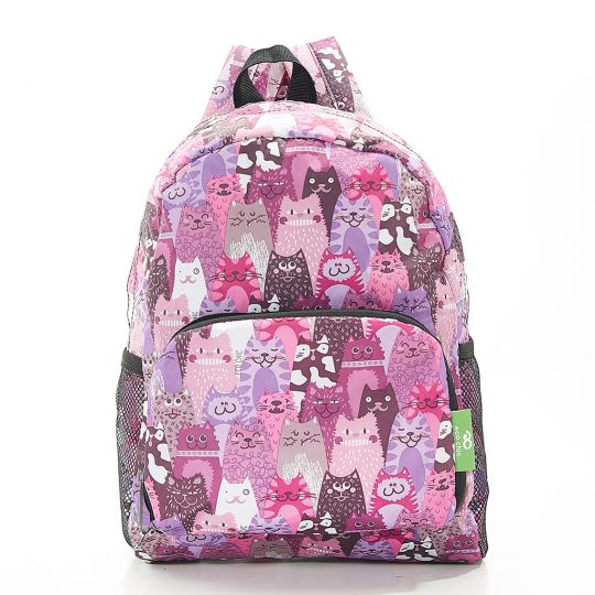 Eco Chic - Mini Backpack - G07PP - Purple - Cats