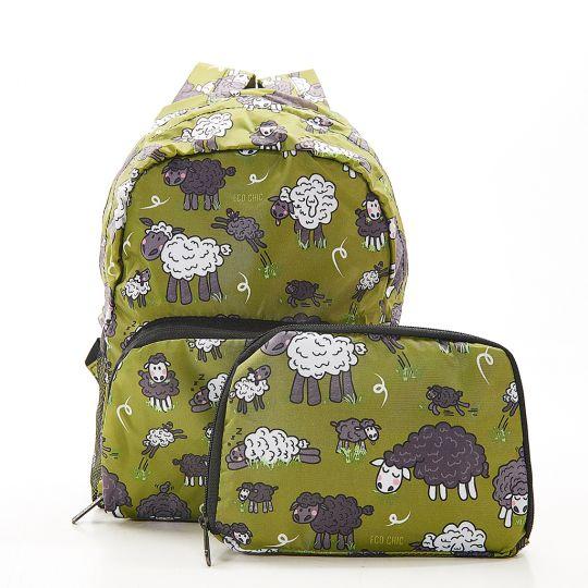Eco Chic - Mini Backpack - G11GN - Green - Sheep
