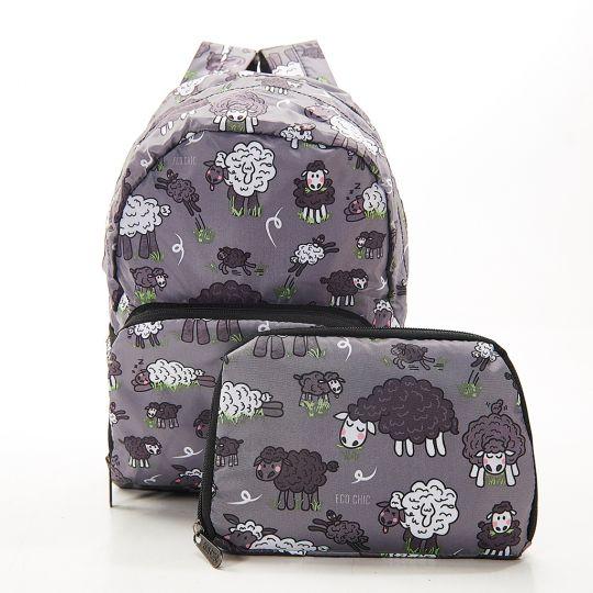 Eco Chic - Mini Backpack - G11GY - Grey - Sheep