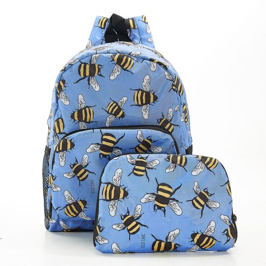 Eco Chic - Mini Backpack - G12BU - Blue - Bees