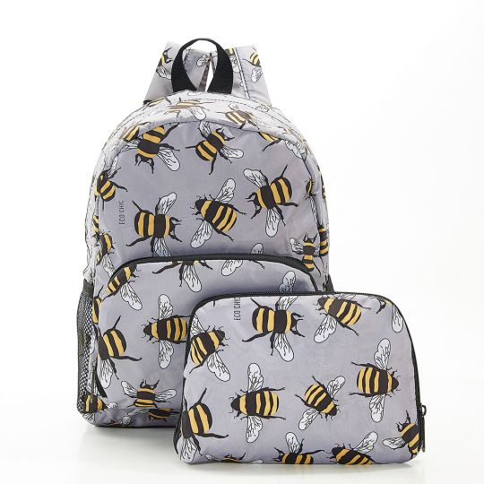 Eco Chic - Mini Backpack - G12GY - Grey - Bees