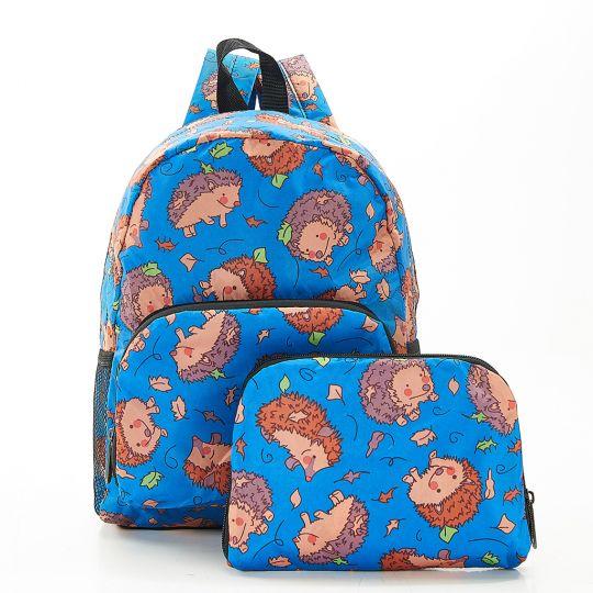 Eco Chic - Mini Backpack - G13BU- Blue - Hedgehog