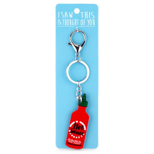 Keyring - I saw this & I thougth of You - Pizza & Beer
