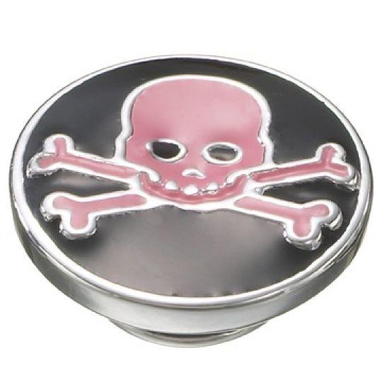 KJP122a - JewelPop Pink Skull