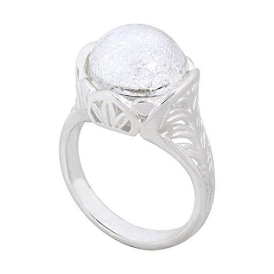 KR44 - Zilveren Ring - Palm Leaf Ring - 20,00