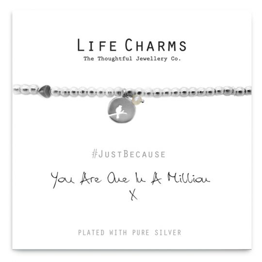 480211 - Life Charms - LC011BW - Just because - You are one in a million