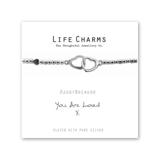 480213 - Life Charms - LC013BW - Just because - You are Loved