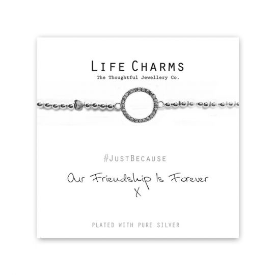 480225 - Life Charms - LC025BW - Just because - Friendship Forever