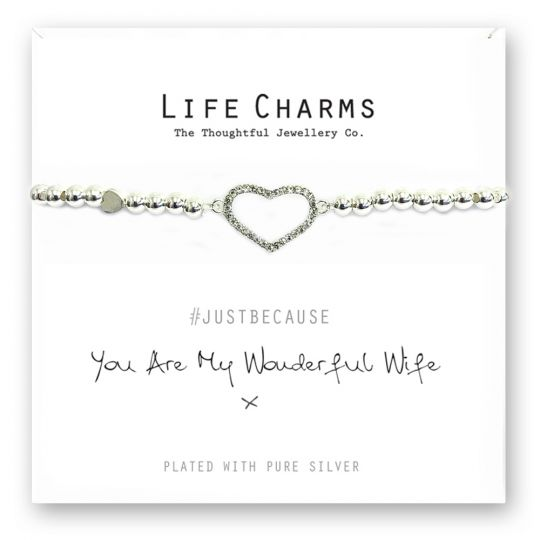 480232 - Life Charms - LC032BW - Just because - Wonderful Wife