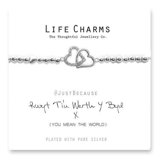 480233 - Life Charms - LC033BW - Just because - You mean the World to me
