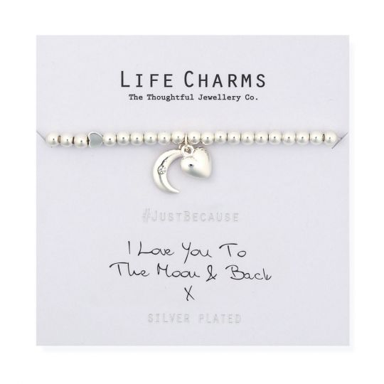 480278 Life Charms - LC078BW - Just because - Love You to the Moon and Back
