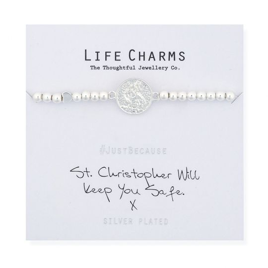 480280 Life Charms - LC080BW - Just because - St. Christopher Will keep You Safe