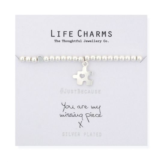 480282 Life Charms - LC082BW - Just because - You are my missing Piece