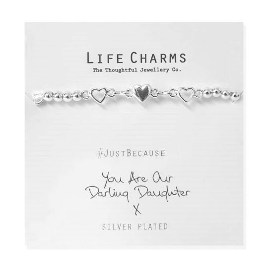 480285 Life Charms - LC085BW - Just because - You are our Darling Daugther