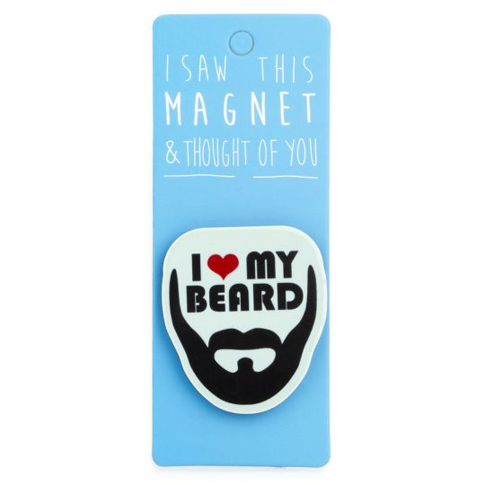 I saw this Magnet and .... - MA073 - I ♥ My Beard