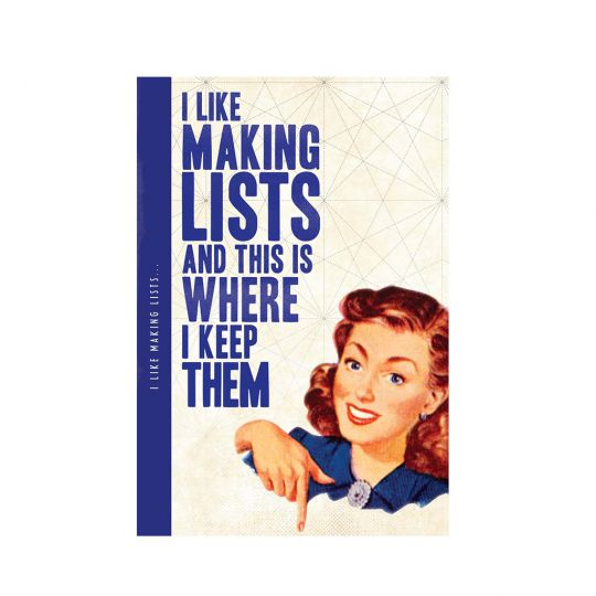 Notebook XL - I like making lists..... (Notes 'N' Quotes)