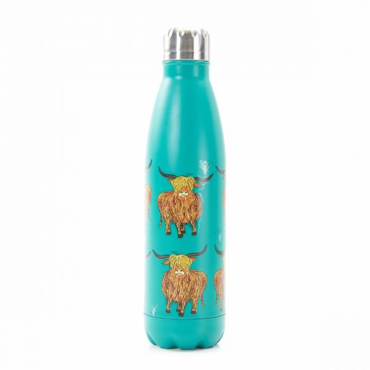 Eco Chic - The Bottle Thermosfles - T09 - Highland Cow