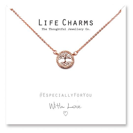 480508 - Life Charms - YY08 - Necklace Rose Gold CZ Tree of Life