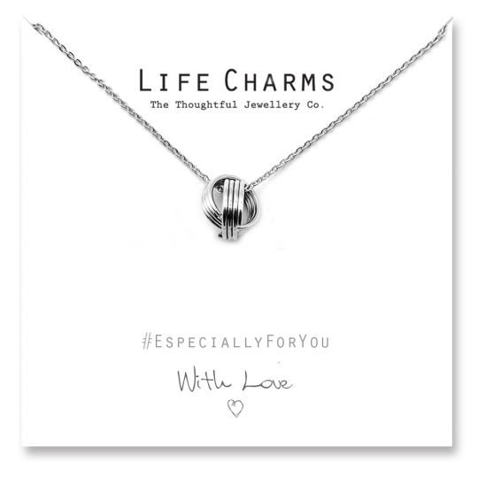 480511 - Life Charms - YY11 - Necklace Silver Lucky Rings