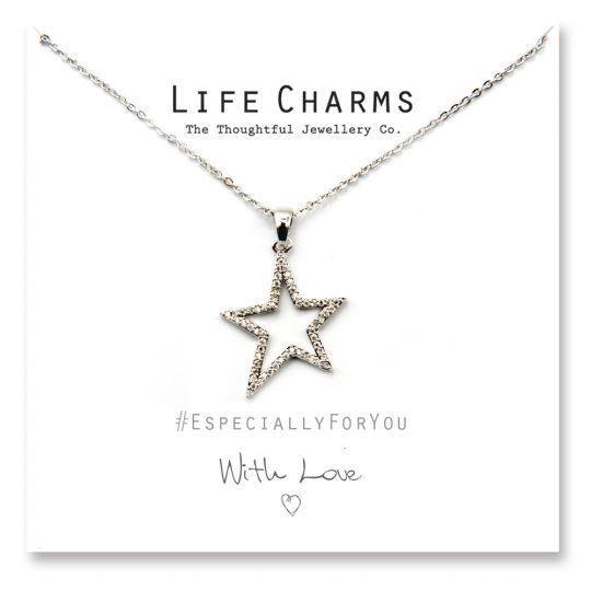 480516 - Life Charms - YY16 - Necklace Silver Starburst